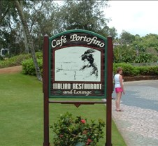 Cafe Portofino sign