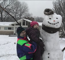 This snowman was seven feet tall!