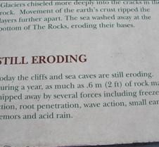 Narrative rocks eroding