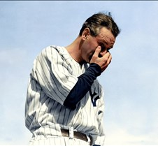 Lou Gehrig, July 4, 1939 after retiring