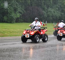 Shriners ridin in rain