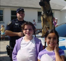 the girls with the Canine Unit