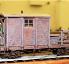 Scratch Built Railroad Work Car