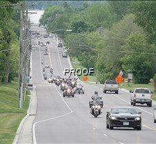 Parade of motorcycles