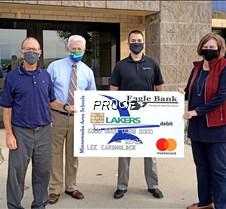 Eagle Bank Laker donation