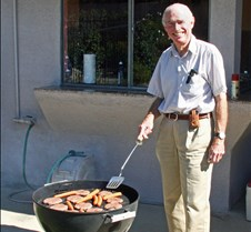 Bill Turkel BBQing Our Lunch