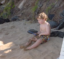 Grant playing in the Sand