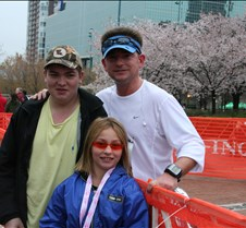 Atlanta Half Marathon 2008 Don and I went out to Atlanta this weekend to watch Brian run in his first half marathon.  Working very long hours on a new job and only able to run 7 miles for his longest run--he was able to pull out a 1:43!!!!  We were so proud of him!!!!  It was a cool
