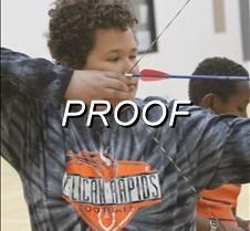 Archery in schools close up