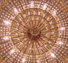 art - chandelier gold