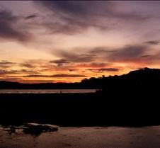 sunset over pataua