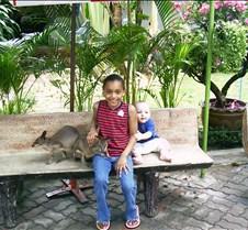 Kids at Tiger Zoo