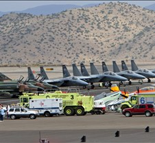 Emergency Vehicles in front of Military