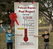 pool sign fundraise