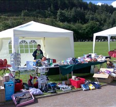 Clydach Vale Community Fete The Rescued Racers stall at he annual village fete