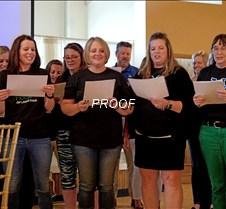 Elementary staff singing