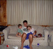 Kevin Brad and Caitlin on couch 20020826