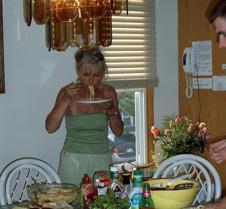 Heidi eating