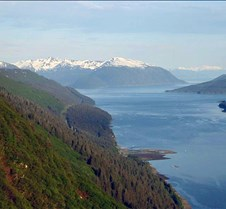 Looking down on the inside passage at Ju