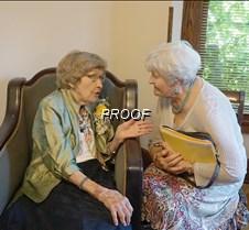 Margaret talking to friends