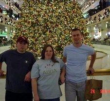 Adam, Patty & Bill by the xmas tree