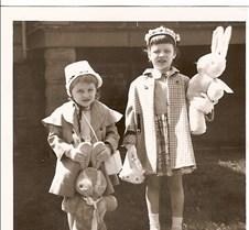 Karen & Joan Easter 1955