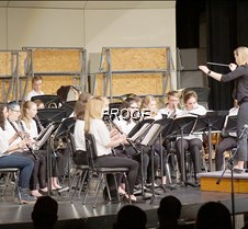 Seventh grade band side view