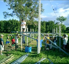 054 setting up roof frame
