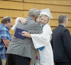 Emily Harste receiving diploma