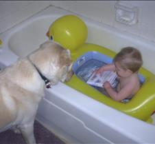 Bath time with Cajun