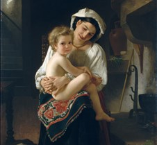 Mother Gazing at Child-W-Adolphe Bouguer