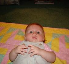 Ella at Grandma & Grandpa's house with A