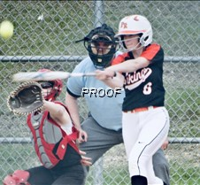 softball peterson connects 6