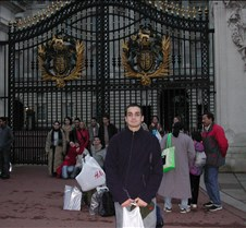 Graham outside Buckingham Palace