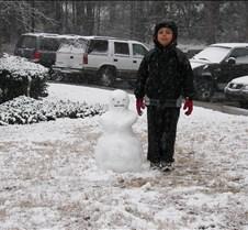 Gabe & snowman 1/2008