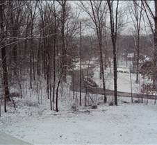 A snowy day on Cherry Rd