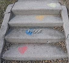 chalk sidewalk hearts