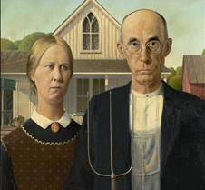 American Gothic-Grant Wood-1930-Art Inst