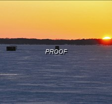 Sun setting on ice house season