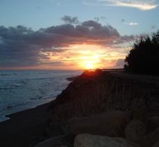 Sunset on west coast near Waimea