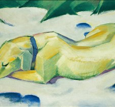 340Dog in the Snow-Franz Marc-1911-Stade