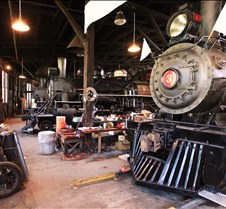 Sierra Railway #3 & Others in Roundhouse