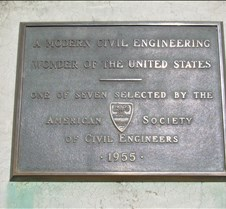 Hoover Dam - ASCE Plaque