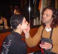 John applies makeup-Jo