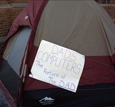 Tent with our sign