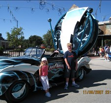 Tyler & Jaxy with Power Ranger Car