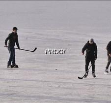 Playing some ice hockey