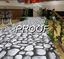 prom stage and set
