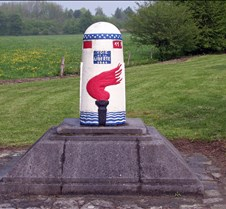 Liberty Road Marker in Bastogne, Belgium