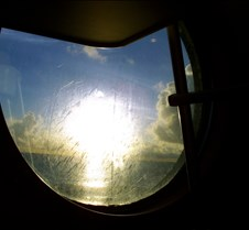 Sun through porthole
